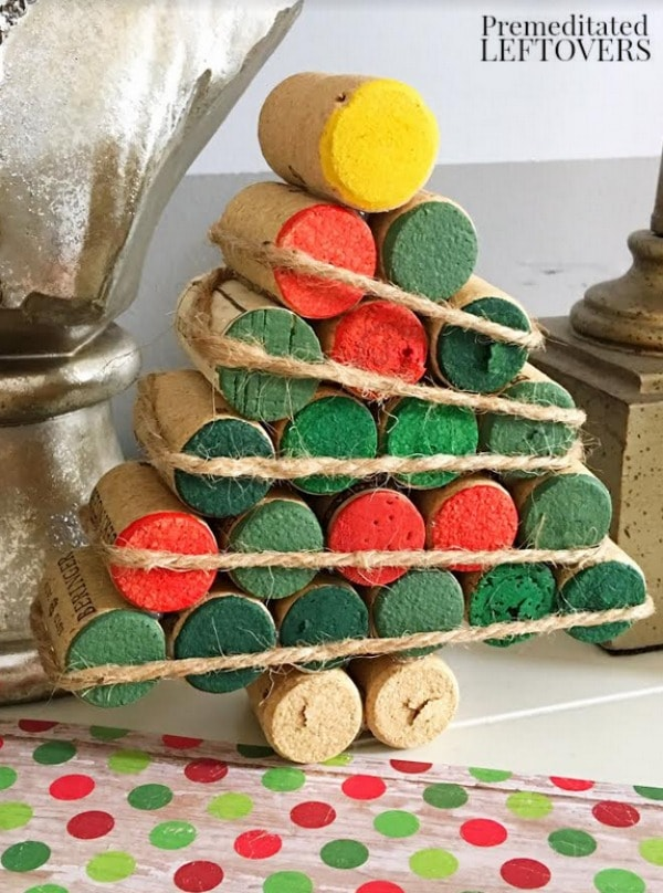 grab your saved wine corks for this easy wine cork christmas tree craft its a