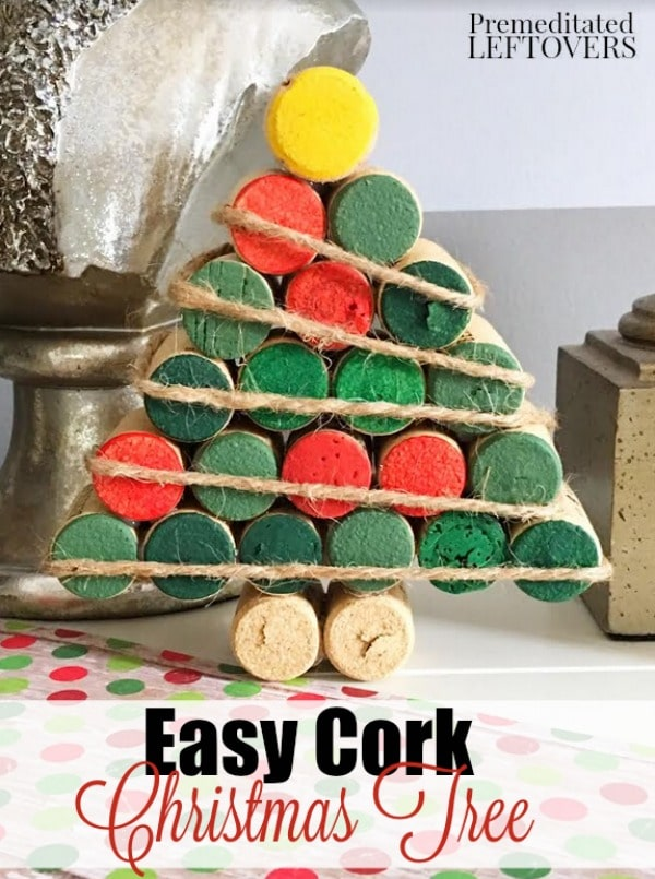 Grab your saved wine corks for this easy Wine Cork Christmas Tree craft. It's a fun and frugal way to decorate your home for the holidays!