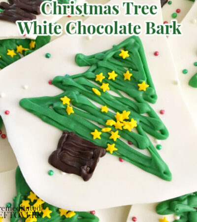 Christmas tree white chocolate bark candy recipe