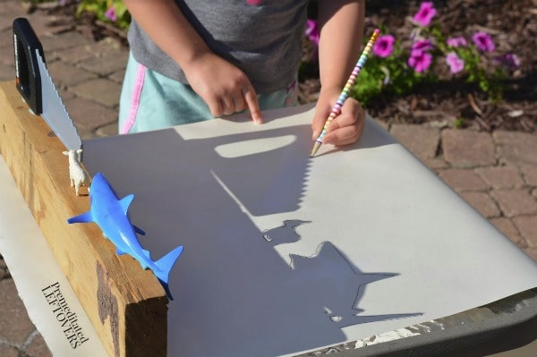 sunshine shadows tracing activity for kids