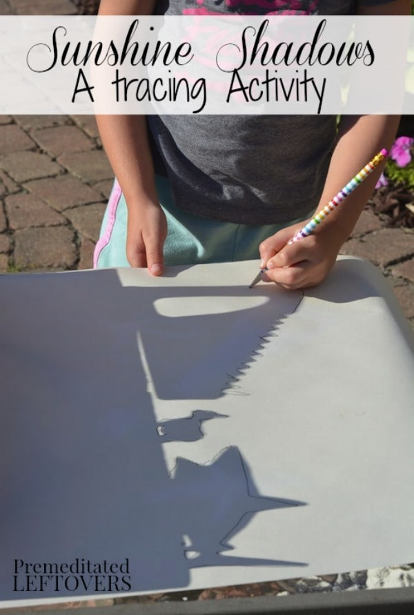 Kids can learn about the letter S with this fun Letter S Activity: Sunshine Shadows Tracing. It's an easy activity to set up and enjoy on a sunny day!
