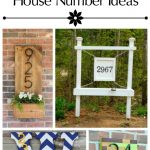 10 Unique DIY House Number Tutorials