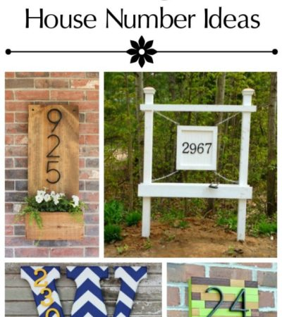Add personality to the outside of your home with these 10 Unique DIY House Number Tutorials. They include easy and frugal ideas you can make yourself!