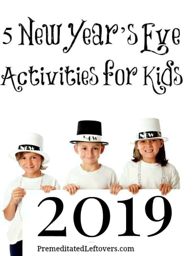 5 fun and easy New Year's Eve Activities for Kids
