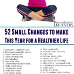 52 small changes for living a healthy life