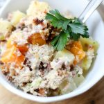 Butternut Squash, Potato, and Ham Casserole