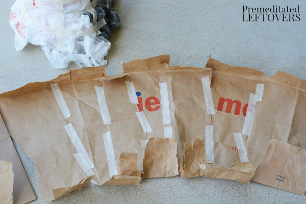 Diet Cola Volcano Activity- tape paper bags together