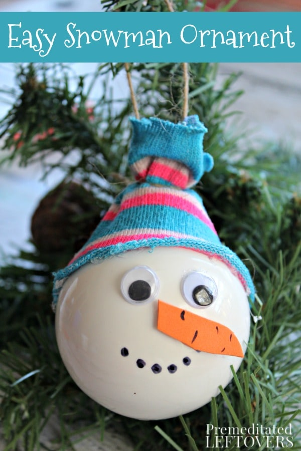 this snowman christmas ornament craft is a fun and simple way for kids to decorate the