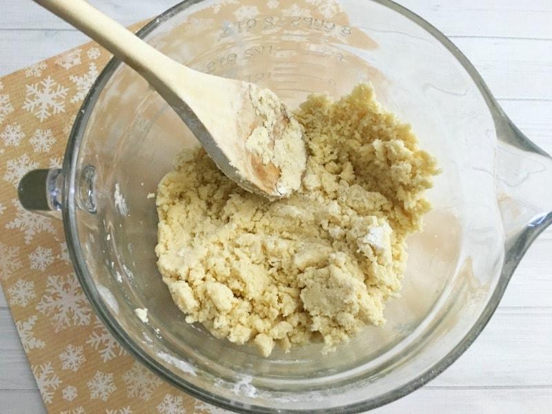 Rudolph Sugar Cookies- mix ingredients