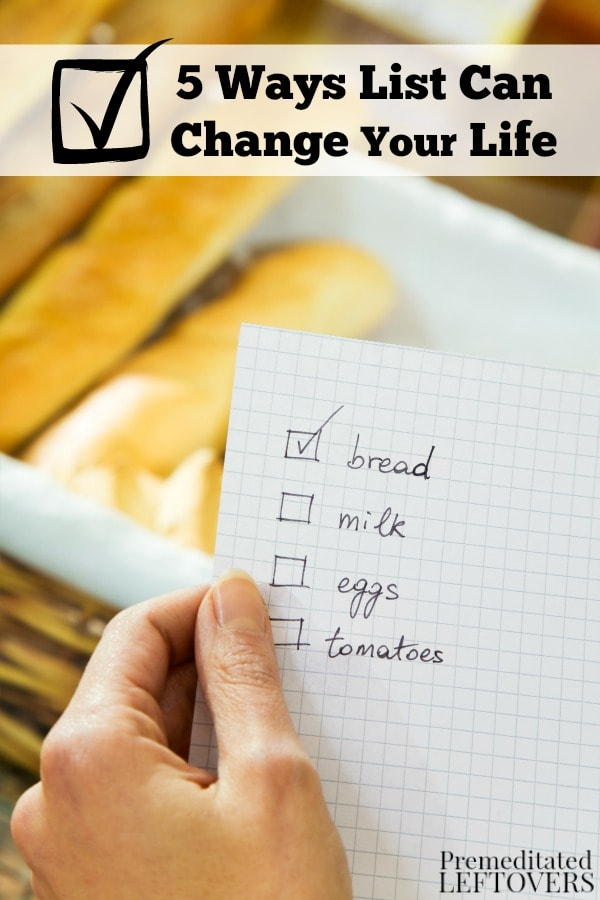 Lists are easy to make and can have such a positive impact on your daily schedule. To learn how, check out these 5 Ways Lists Can Change Your Life.