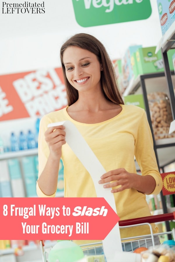 The cost of groceries is a major expense in your family's budget. You can save a lot of money on food with these 8 Frugal Ways to Slash Your Grocery Bill.