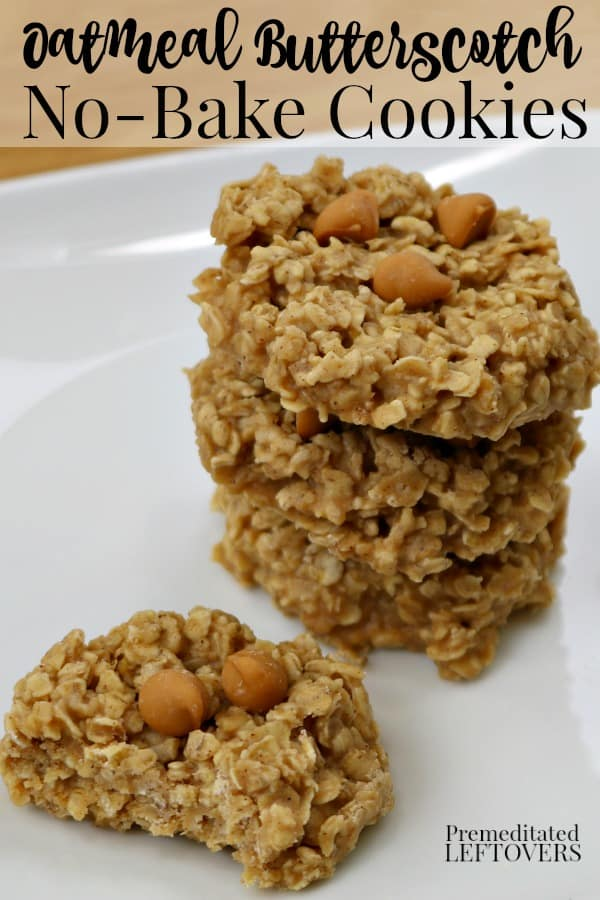 No Bake Oatmeal Butterscotch Cookies Recipe