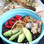 Red & White Quinoa Bowl with Swordfish and Avocado