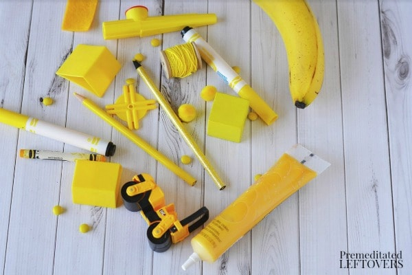 Yellow Search and Discovery Activity- materials needed