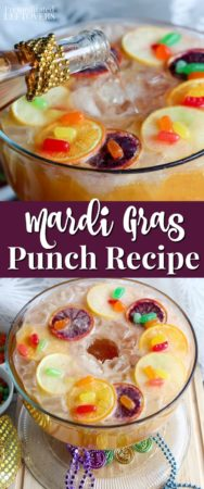 This Mardi Gras punch recipe is perfect for Fat Tuesday!