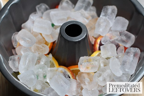 Our Mardi Gras King Cake Soda Ice Ring is a one of a kind festive creation that will keep your punch bowl looking absolutely beautiful and delicious!