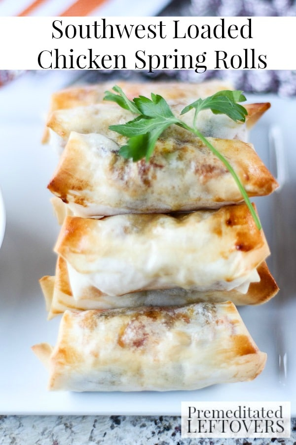 These Loaded Southwest Chicken Spring Rolls are packed with flavorful ingredients. This recipe makes the perfect appetizer with a lot of southwestern flair!