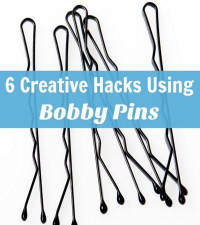Bobby pins are handy for hair styling and so much more! Put these inexpensive pins to use around your home with 6 Creative Hacks Using Bobby Pins.