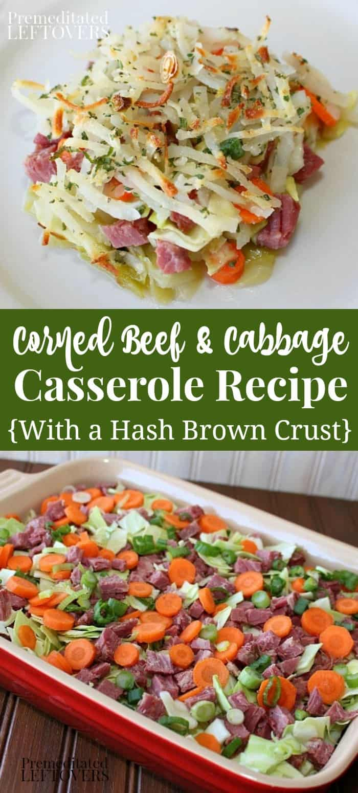 Corned Beef and Cabbage Casserole Recipe with a Hash Brown Crust
