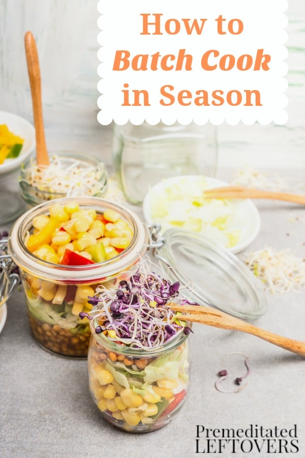 Learn How to Batch Cook in Season to cut grocery costs and make wise choices when it comes to your grocery spending. These helpful tips will show you how.