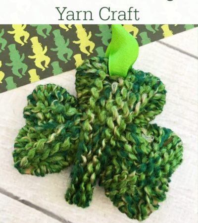 Shamrock Yarn Craft for kids