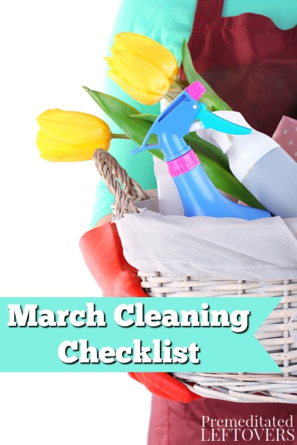 Get ready for spring with this March Cleaning Checklist! It will help you pack up winter gear and clean out those winter-weary areas of your home.