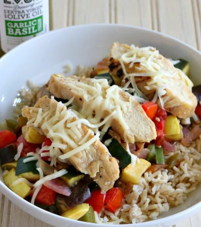 Ratatouille Chicken Bowl - A flavorful one-bowl wonder recipe