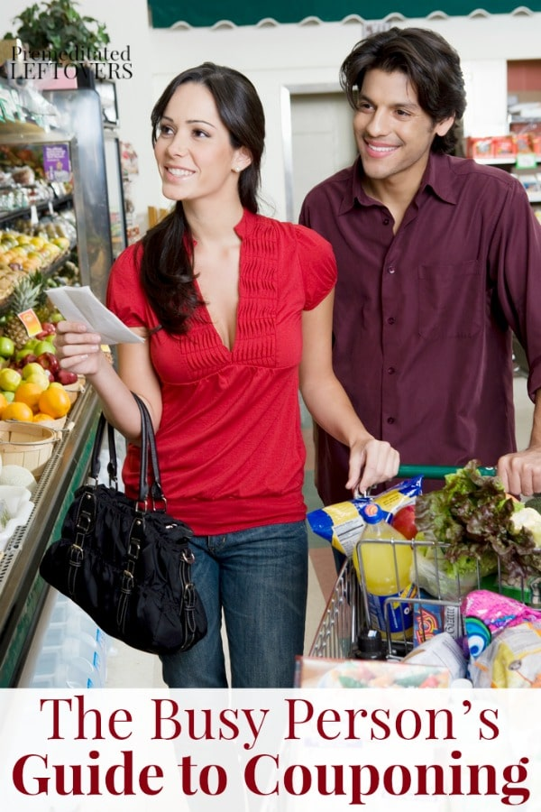 The Busy Person's Guide to Couponing - tips for saving money on groceries even when you art short on time
