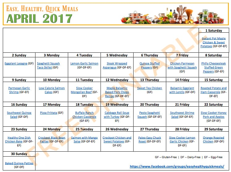 Gluten-Free Meal Plan on a Budget - A gluten-free family meal plan with a printable menu plan with 30 gluten-free meal options.