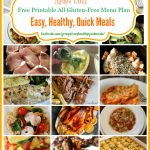 Gluten-Free Meal Plan - A month of quick and easy gluten-free meal options for your family.