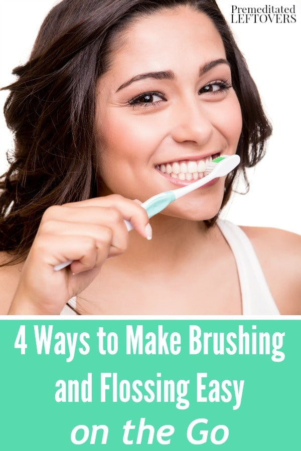 Check out these 4 Ways to Make Brushing and Flossing Easy on the Go. They include dental hygiene tips you can use for your busiest days and while traveling.