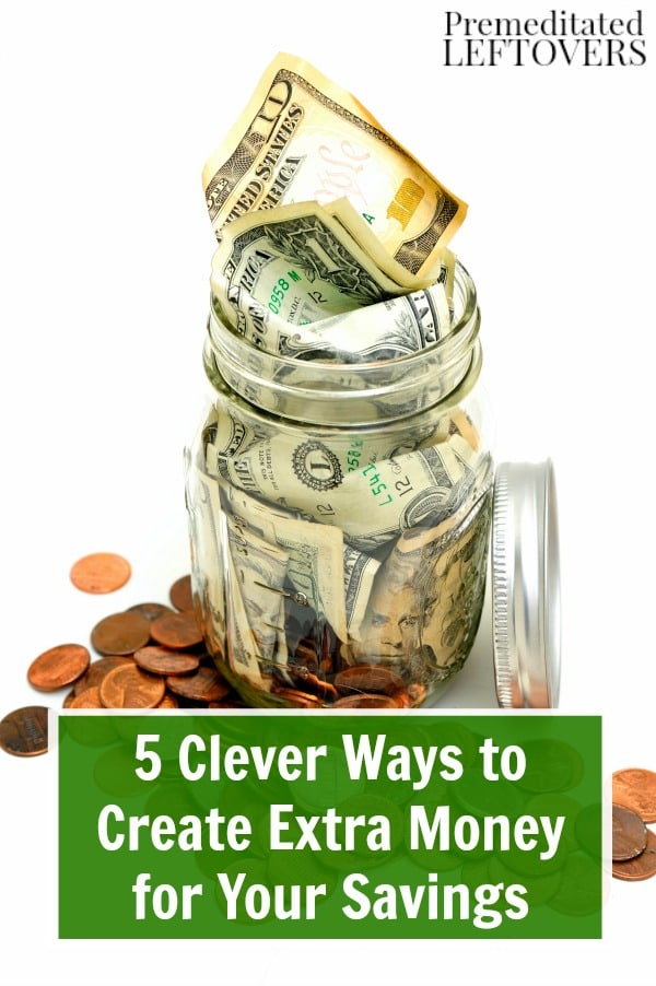 There are some easy and painless ways to put money away even when things are tight. Check out these 5 Clever Ways to Create Extra Money for Your Savings.