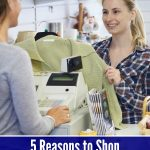 Check out these 5 Reasons to Shop Consignment Stores Now! You can find deals on high end merchandise and make money on gently used items of your own.