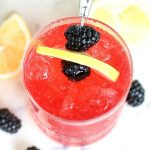 Here's a new cocktail recipe to try! This Blackberry and Lemon Drop Chiller is a delicious mix of lemon, homemade blackberry syrup, and flavored vodka.