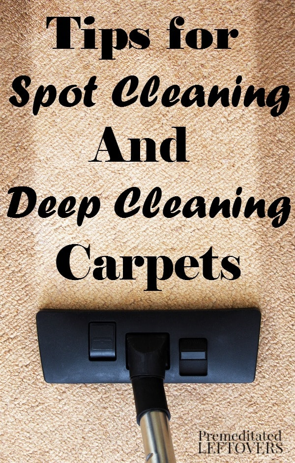 Carpets take a beating, especially if you have kids or pets. These Tips for Cleaning Carpets include useful ways to deep clean and spot clean common stains.