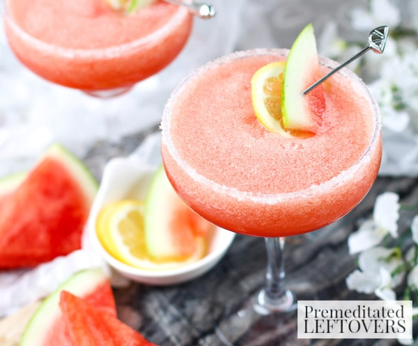 Watermelon, Lemon, and Cranberry Margarita- Warm weather is just around the corner and having a go-to cocktail is essential! Try this refreshing Watermelon, Lemon, and Cranberry Margarita.