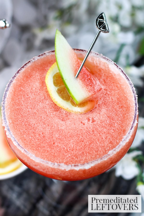 Warm weather is just around the corner and having a go-to cocktail is essential! Try this refreshing Watermelon, Lemon, and Cranberry Margarita.
