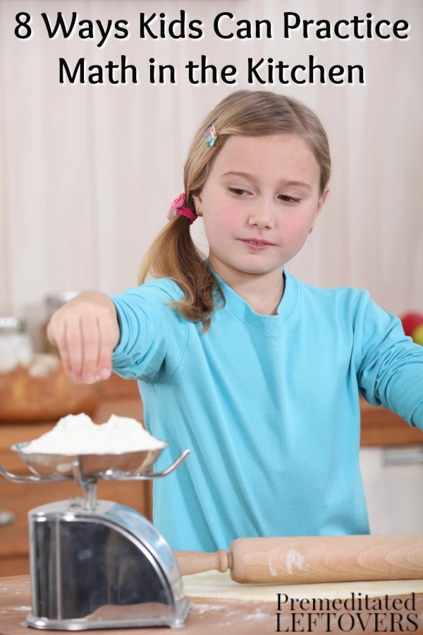 Cooking and baking are great ways to let your kids brush up on their math skills. Give it a try with these 8 Ways Kids Can Practice Math in the Kitchen.