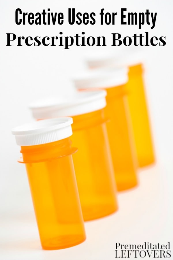 Creative uses for empty prescription bottles for Things to do with pill bottles