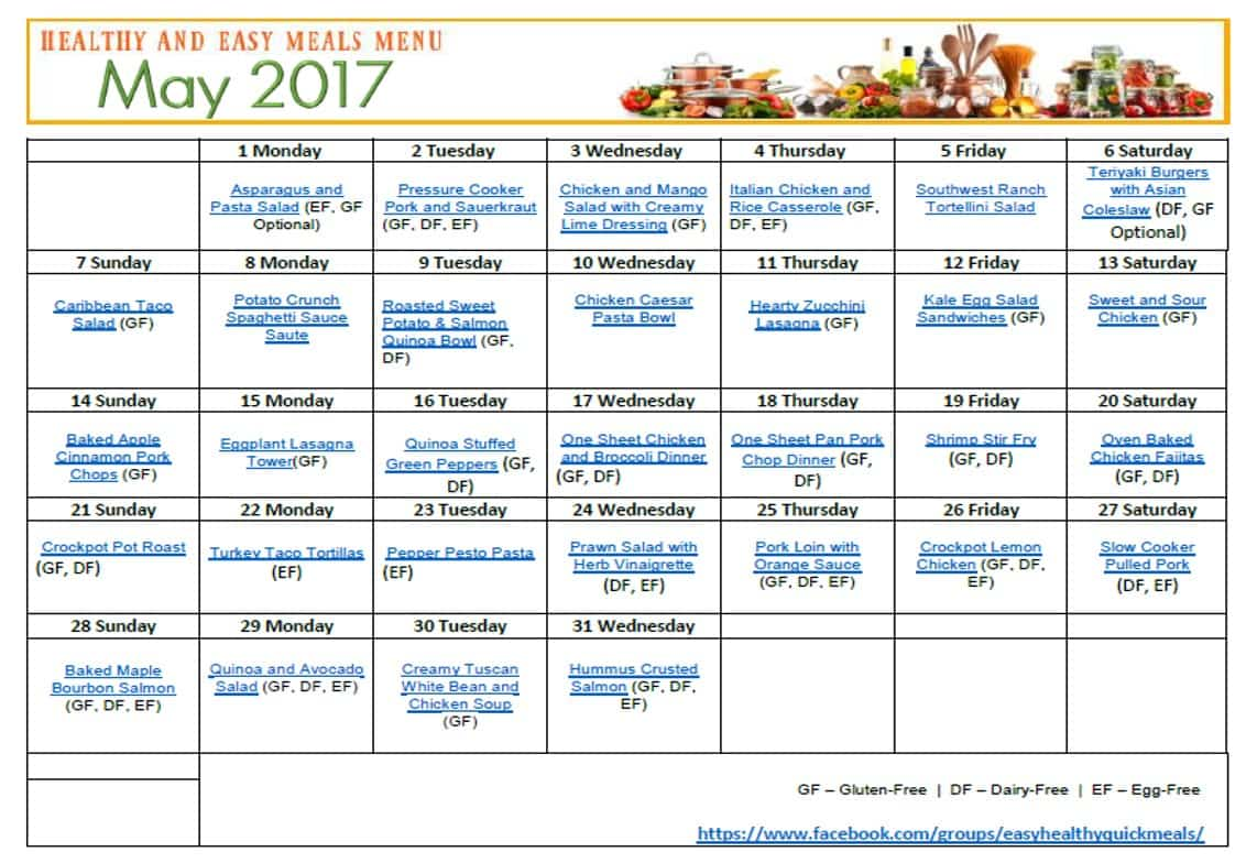 printable healthy meal plans juve cenitdelacabrera co