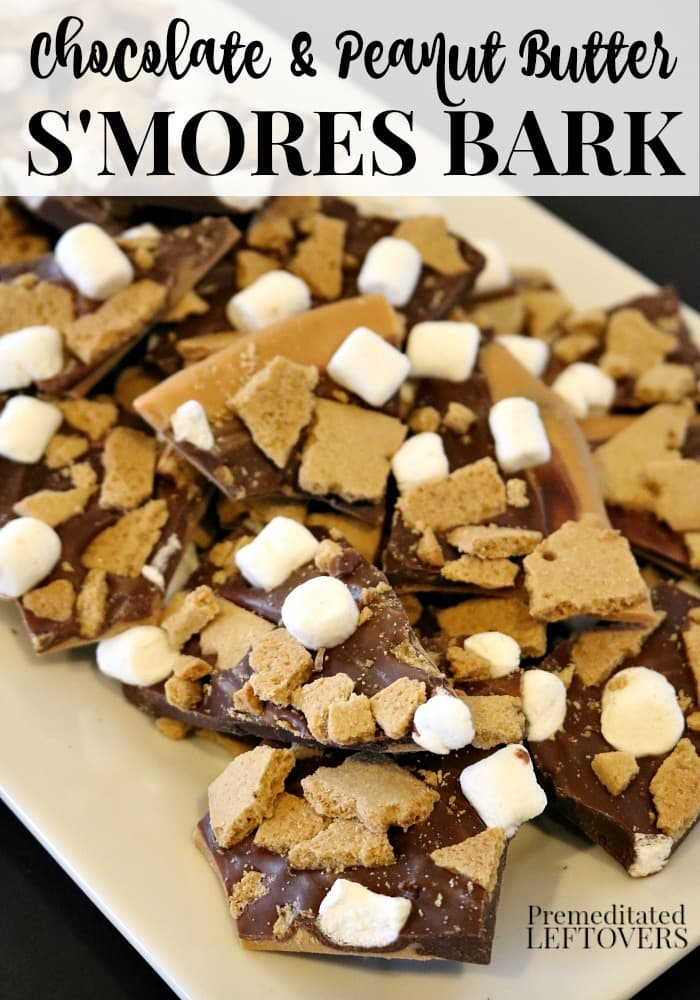 Easy Chocolate Peanut Butter S'mores Bark Recipe