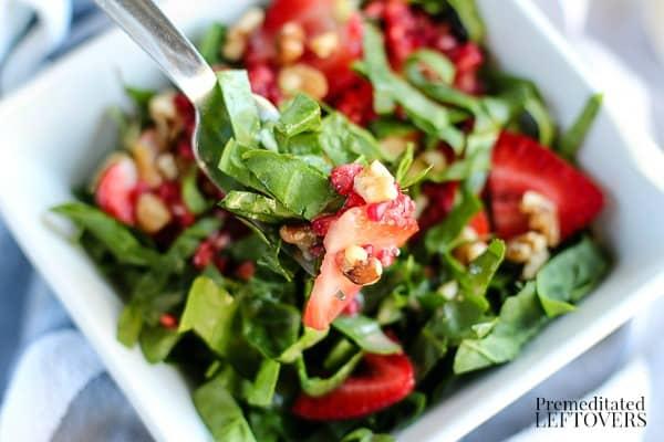 Strawberry Spinach Salad Recipe with Raspberry Vinaigrette Recipe