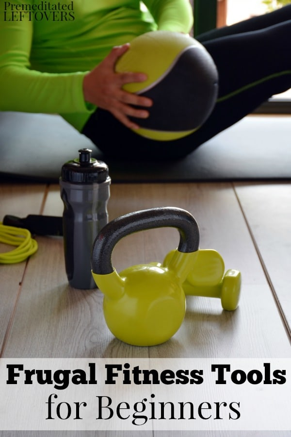 These frugal fitness tools for beginners are great for exercising on a budget. Building your own home gym does not have to break the bank!