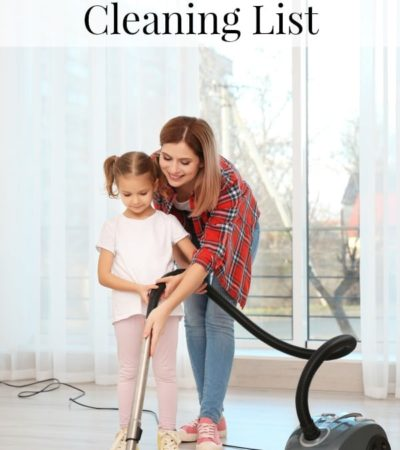 Mid-Summer Cleaning List