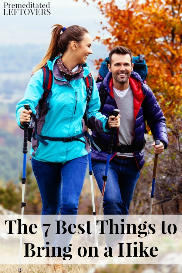 Hiking is a great way to get exercise! Want a more pleasurable hiking experience? Bring these 7 things on your next hike! This is a list of The 7 Best Things to Bring on a Hike to make for a better outing.