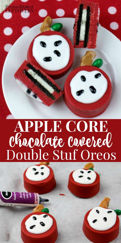 Apple core chocolate covered Double Stuf Oreos recipe.
