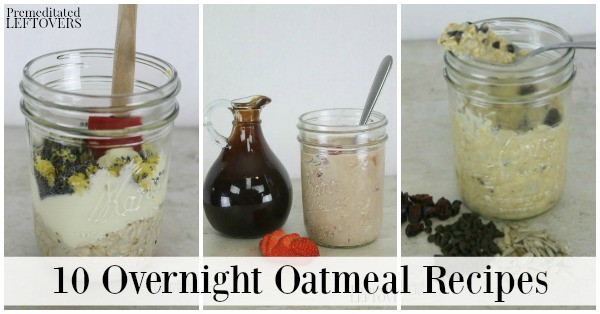 Try these overnight oatmeal recipes for a quick and nutritious breakfast you can make the night before or days ahead of time.