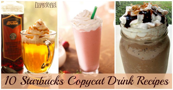 Have you ever wanted to try to make your favorite Starbucks treat? You can with these Starbucks Copycat Recipes for 20 of your favorite drinks and baked goods.