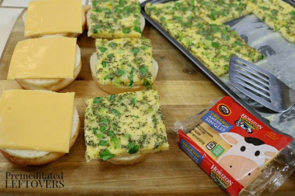 Baking Sheet Scrambled Egg Breakfast Sandwiches Recipe