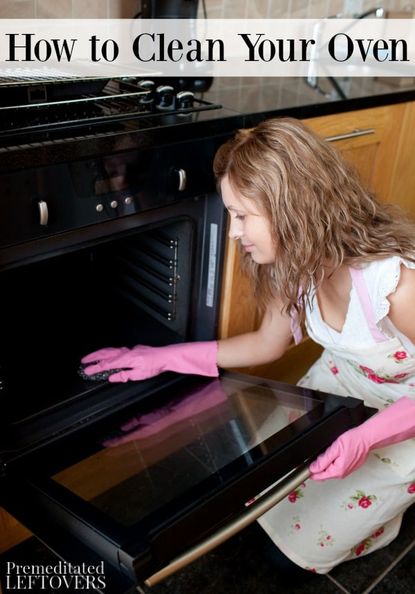 This guide to how to clean your oven offers step by step instructions for using both store bought cleaners and a natural DIY method.